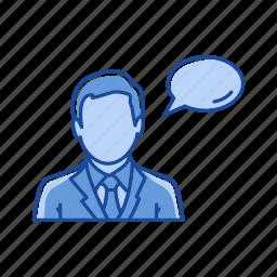 idea, message, talking, verbal icon