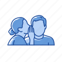 interaction, message, talking, whisper icon