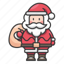 holiday, december, santa, winter, celebration, christmas icon