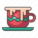 christmas, holiday, december, winter, cup, tea, coffee icon