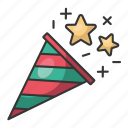 christmas, holiday, december, santa, winter, trumpet, celebration icon