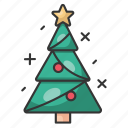 christmas, holiday, december, santa, winter, tree, decoration icon