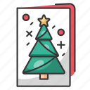 christmas, holiday, december, santa, winter, card, book icon