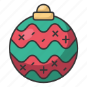 christmas, holiday, december, santa, winter, decoration, ball icon