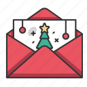 christmas, holiday, december, santa, winter, letter, envelope icon