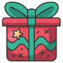 holiday, december, santa, winter, gift, present, christmas icon