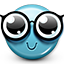 emoticon, geek, glasses, nerd, smiley, smiley face icon