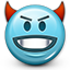 devil, devilish, emoticon, evil, smiley, smiley face icon