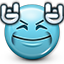dance, devil horns, emoticon, music, rock, rocking, smiley, smiley face, you rock icon