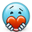 emoticon, give love, heart, love, smiley, smiley face, valentine, valentine's day icon