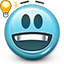 emoticon, eurica, genius, idea, smiley, smiley face icon