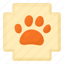cartoon, cat, dog, dog paw, footprint, trail, wolf icon