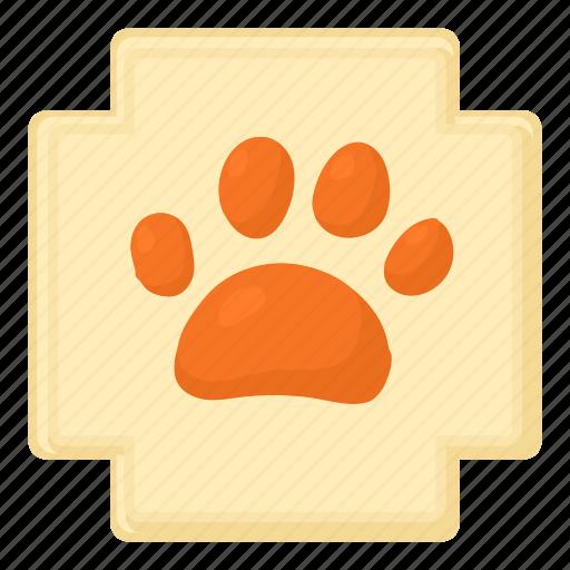 cartoon, cat, dog, dog paw, footprint, trail, wolf icon