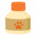 bottle, canine, care, cartoon, cat, nimal, pet medicine icon