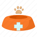 bowl, cartoon, dish, dog, dog bowl, food, pet icon