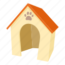 cartoon, dog, dog house, door, home, kennel, pet icon