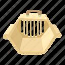accessory, animal, bag, box, cage, carrying animals, cartoon