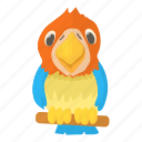 aid, bird, cartoon, clinic, parrot, pet, red icon
