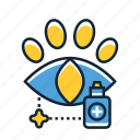 animal, care, eye icon