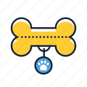 bone, dog, toy icon