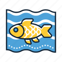 fish, goldfish, pet icon