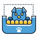 bed, cat, dog, pet icon