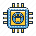 chip, microchip, pet icon