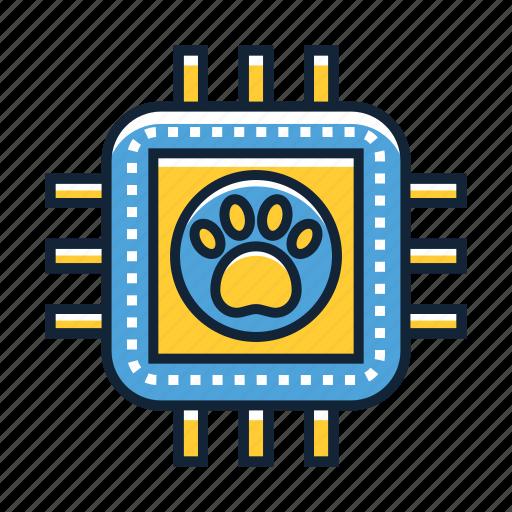 chip, microchip, pet icon
