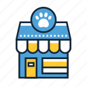 pet, shop, store icon