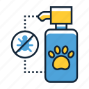 prevention, repellent, tick icon