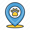 location, pin, vet icon
