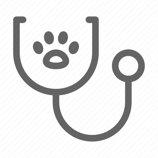 Paw, stethoscope, vet, veterinary icon - Download on Iconfinder