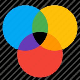 circle, circles, color, design, graphic icon