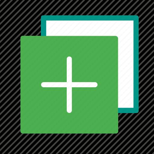 add, copy, design, duplicate, graphic, plus icon