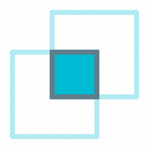 design, graphic, intersect, layers, merge, tool icon