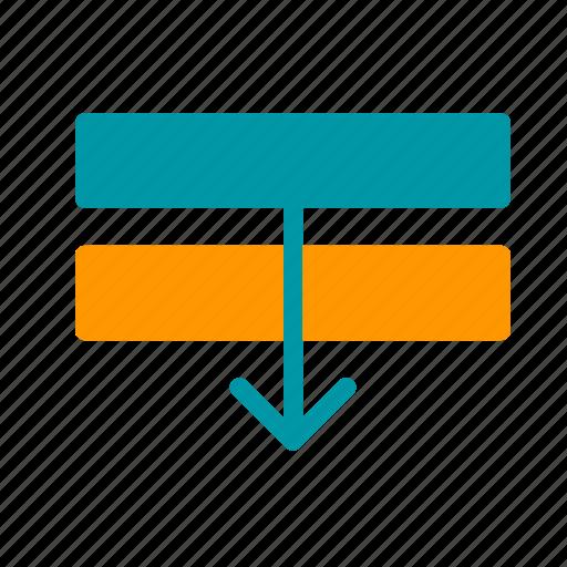 arrange, backward, design, graphic, layer, move icon