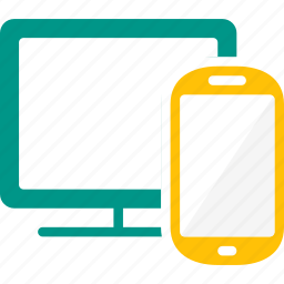 device, display, mobile, responsive, screen, smartphone, tablet icon
