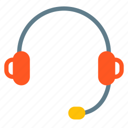 audio, device, headphone, microphone, music, sound, support icon