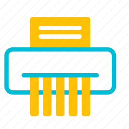 delete, device, document, paper, shredder icon