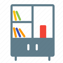 bookshelf, cabibet, cupboard, furniture, interior, shelf icon