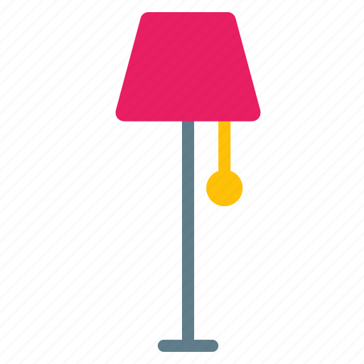 furniture, interior, lamp, light, shine, standing icon