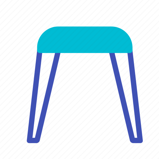 chair, furniture, interior, seat, stool, taboret icon