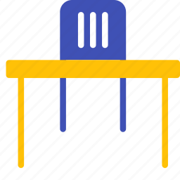 chair, diningtable, furniture, interior, office, set, table icon