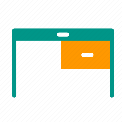 desk, drawer, furniture, interior, office, table, working icon