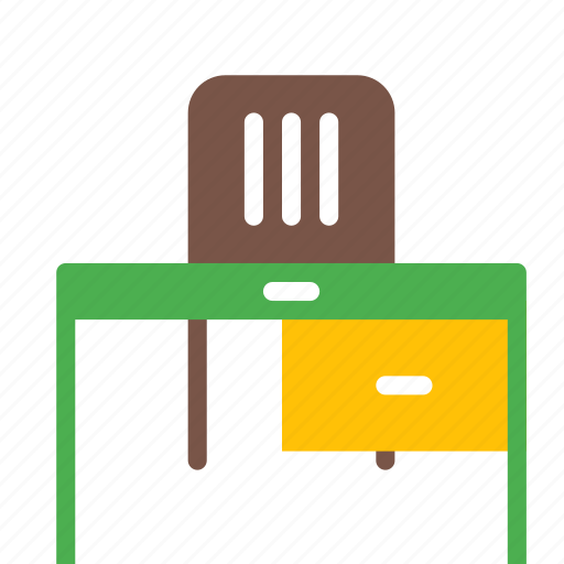 chair, desk, drawer, furniture, office, table, working icon
