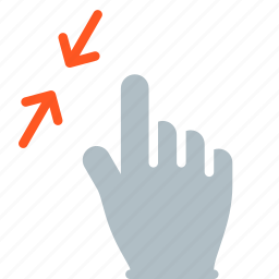 finger, gesture, hand, pinch, touch icon