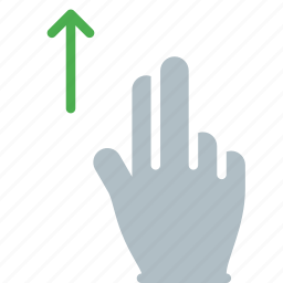 finger, gesture, hand, swipe, touch, up icon