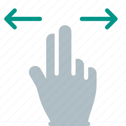 finger, gesture, hand, swipe, touch icon