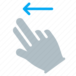 finger, gesture, hand, left, swipe, touch icon