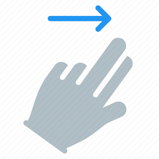 finger, gesture, hand, right, swipe, touch icon